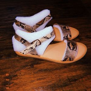 SODA sandals snake pattern